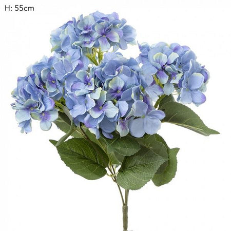 Blue Hydrangea Bundle with Leaves