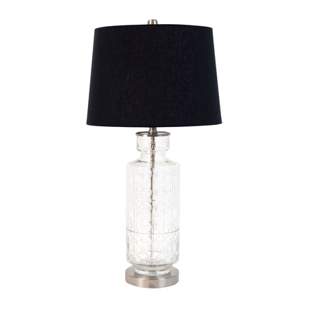 Bloomingdale Grey Glass Cylinder Lamp