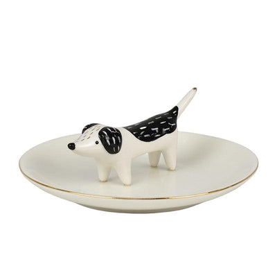 Denis Dog Trinket Plate 12.5x4.5cm