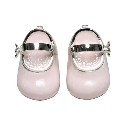 Trinket Box Baby Shoes Pink 8cm