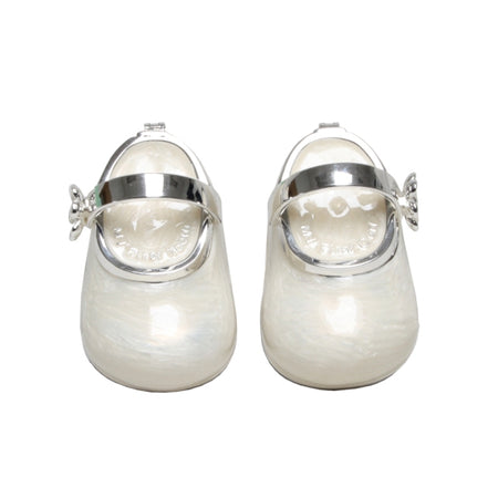 Trinket Box Baby Shoes Ivory 8cm