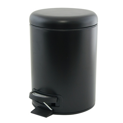 Salt & Pepper Suds Pedal Push Bin Black