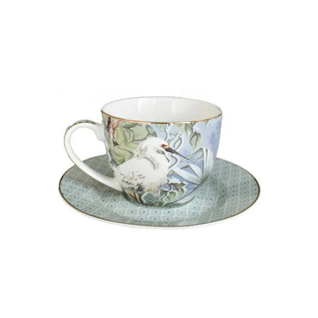 Crane Collection Mint Cup & Saucer