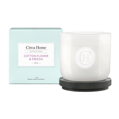 Circa Home Cotton Flower & Freesia Candle Large
