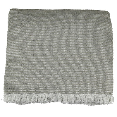 Chambray Waffle Throw Taupe