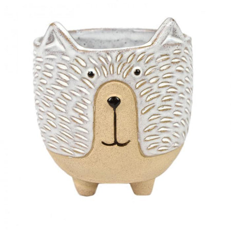 Donnie Dog Ceramic Large Pot Natural