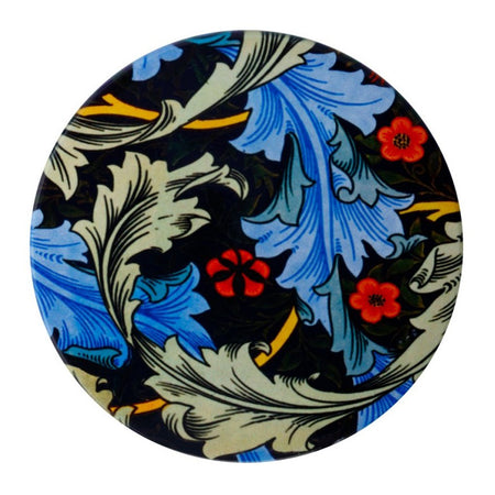 William Morris Ceramic Coaster Blue Acanth