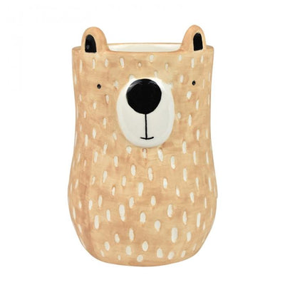 Blair Bear Ceramic Pot 10x15cm Blush