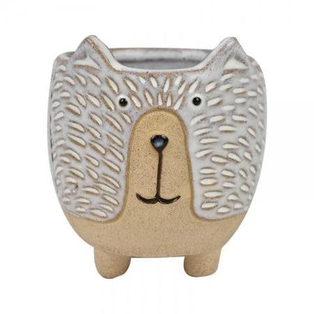 Donnie Dog Ceramic Small Pot Natural