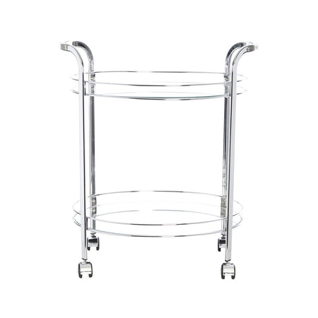 Smith Oval Trolley Chrome Glass