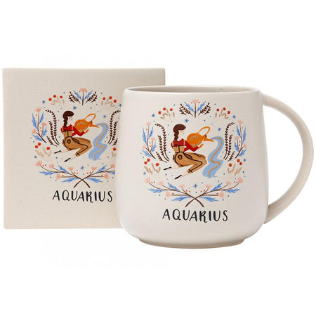 Zodiac Aquarius Mug & Coaster Set