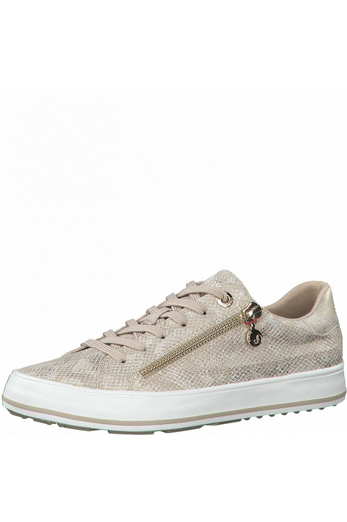 S.Oliver Lace Up Trainer 23615 champagne snake