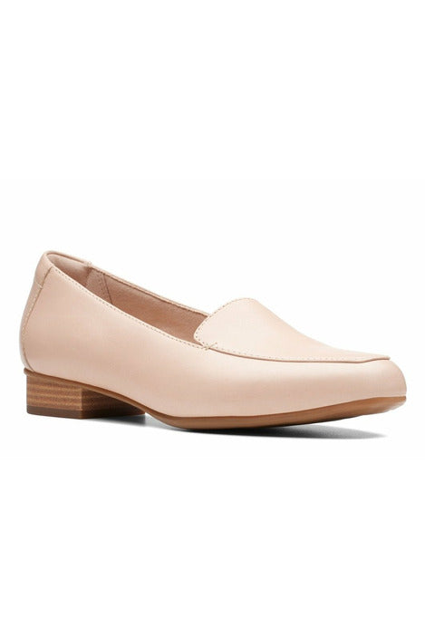 Clarks Juliet Lora blush leather small heel wide fitting slip on leather work shoe smart
