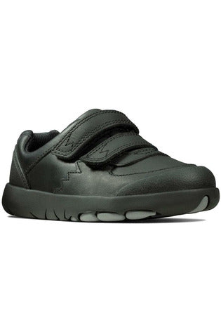 Clarks Rex Pace T Black Leather