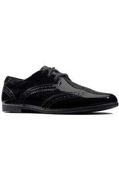 Clarks Scala Lace Kid Black Patent