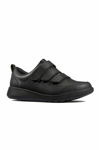 Clarks Scape Sky Youth black leather