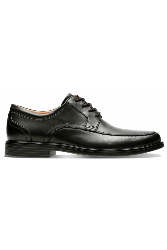mens lace up smart workwear block heel stitching detail