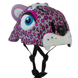 Load image into Gallery viewer, Crazy Safety lasten kypärä Pink Leopard
