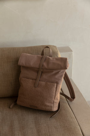 Monk & Anna Herb backpack • wool • cacao