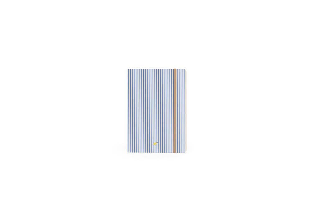 Load image into Gallery viewer, Sticky Lemon muistivihko -Notebooks stripes with elastic band