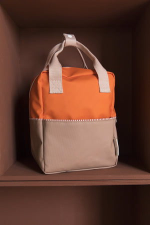 Load image into Gallery viewer, Sticky Lemon reppu -small backpack colour blocking- royal orange