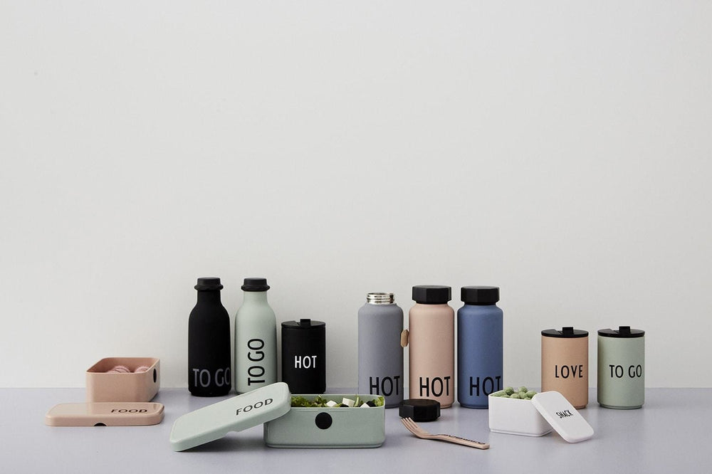 DESIGN LETTERS Thermo bottle HOT PINK