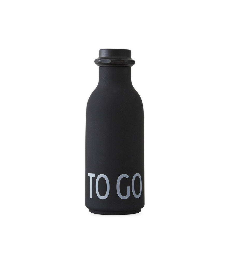 DESIGN LETTERS To Go Water Bottle BLACK