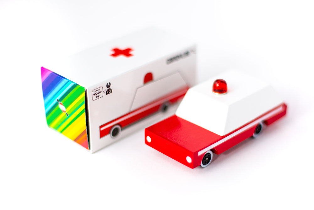 Load image into Gallery viewer, Candylab Toys Candycar Ambulance