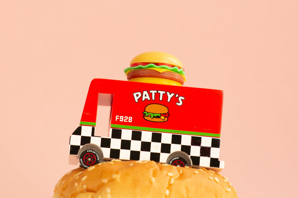 Load image into Gallery viewer, Candylab Toys Candycar Hamburger Van