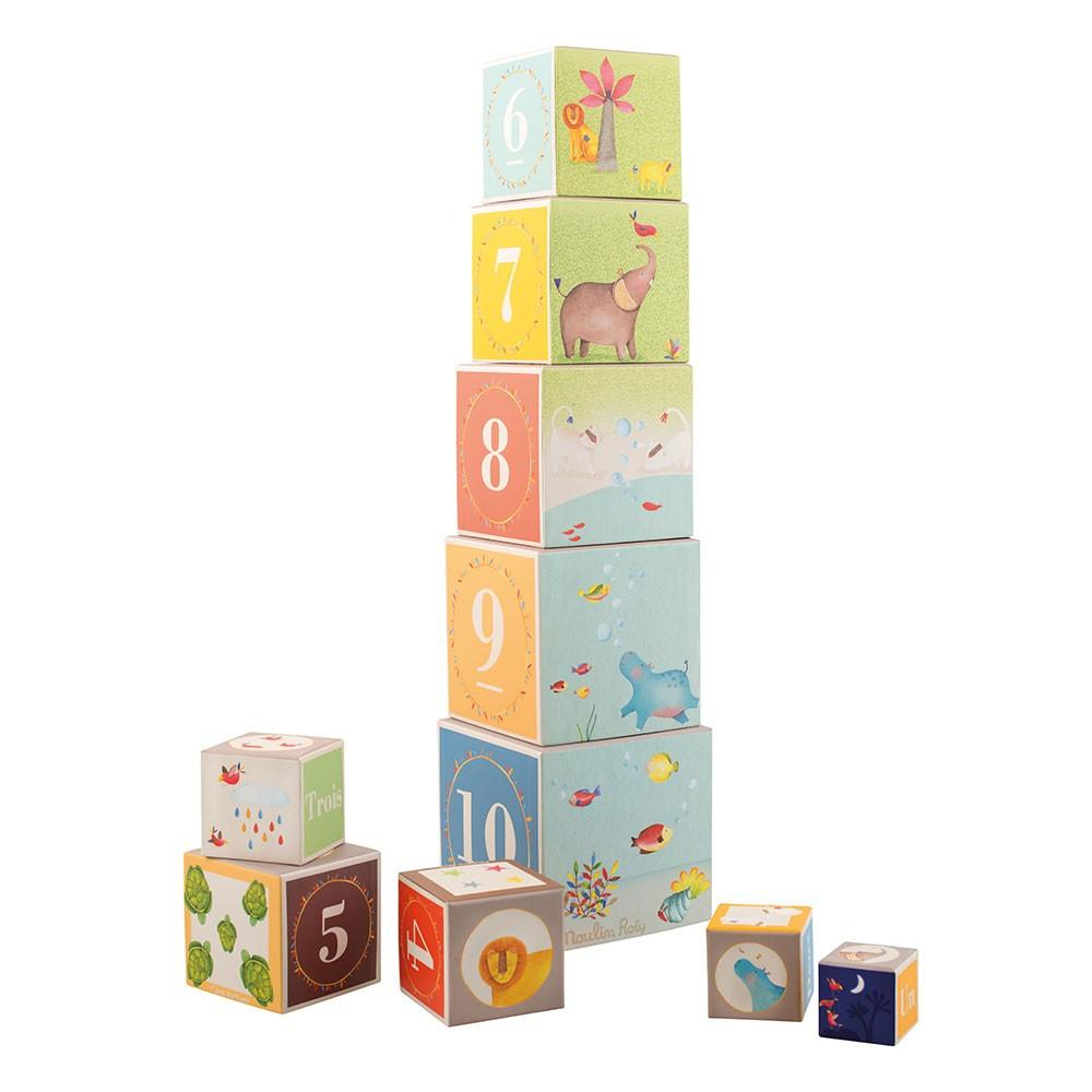 Load image into Gallery viewer, Pinottavat kuutiot Stack-up cubes Le Toy Van