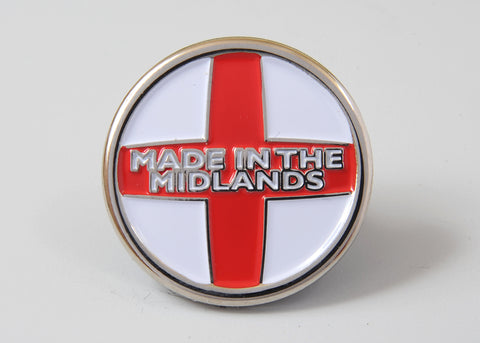 Made In The Midlands lapel badge