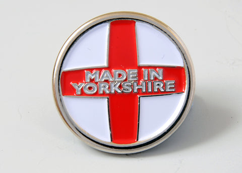 Made In Yorkshire lapel badge