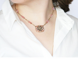 Michal Golan Pretty in Pink Square Necklace