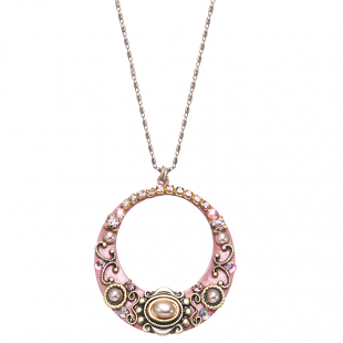 Michal Golan Pretty in Pink Hoop Necklace