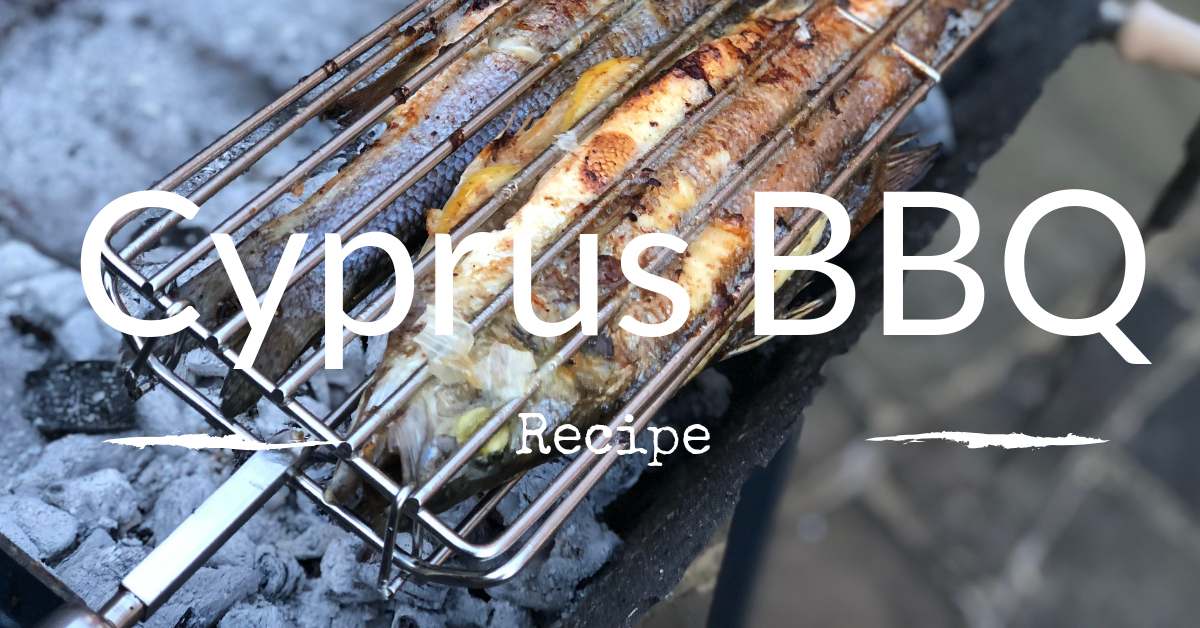 Whole Sea Bass Cooked on a Cyprus BBQ