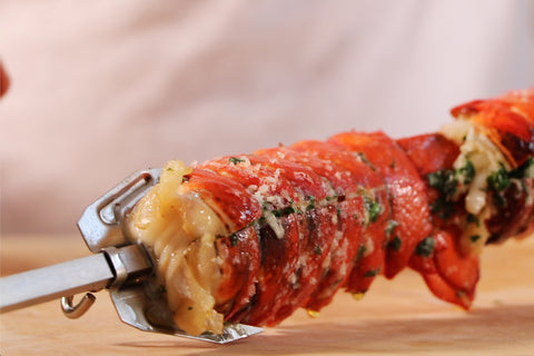 Lobster tails on a Souvla Skewer