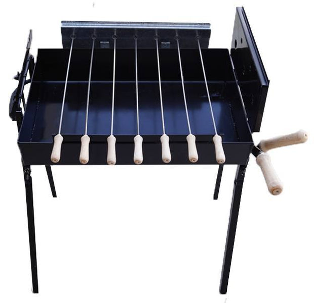 BBQ Bundle - Mini BBQ with Rotating Fish Grill - Small Chicken Hooks Charcoal BBQ Cyprus BBQ