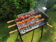 Charcoal BBQ - BBQ Set - Mini Modern Cypriot Charcoal Rotisserie Barbecue -Small Black