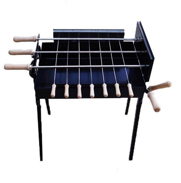 BBQ set - Mini Modern Cypriot Charcoal Rotisserie Barbecue -Small Black Charcoal BBQ Cyprus BBQ