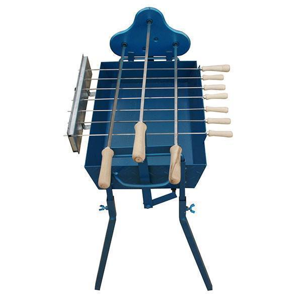 BBQ Set -Mini Traditional Cypriot Foukou Charcoal Cyprus Barbeque - Blue Charcoal BBQ Cyprus BBQ