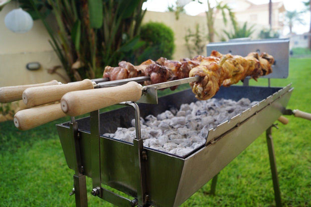 BBQ Set - Modern Charcoal BBQ - Extra Wide Stainless Steel Barbecue Charcoal BBQ Cyprus BBQ