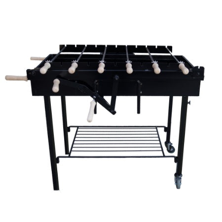Charcoal BBQ - BBQ Set - RLX Chain Greek Rotisserie Charcoal Barbecue - Black