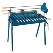 BBQ Set - Traditional Foukou Large Charcoal Rotisserie Barbecue - Blue Charcoal BBQ CyprusBBQ