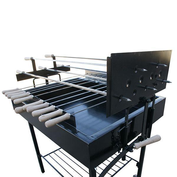 Charcoal BBQ - BBQ Set - X5 Greek Cypriot Foukou Rotisserie Charcoal Barbecue - Black