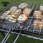 Grill - Grill - Stainless Steel Folding Grill Suitable For Cyprus BBQ (Barbecue) - Large