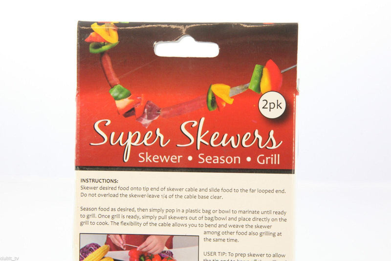 Skewer - Stainless Steel Bendable Super Skewers for BBQ or Grill - 2 Pack Skewer CyprusBBQ