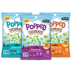 Popped Chickpeatos: 24-count Variety Pack, 100 Calorie Snack Bag: Zesty Ranch, Lightly Salted, Caramel Sea Salt