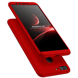 3 in 1 - 360° Full Protection Body Case Cover for Huawei Honor 9 Lite - Red - Mobizang