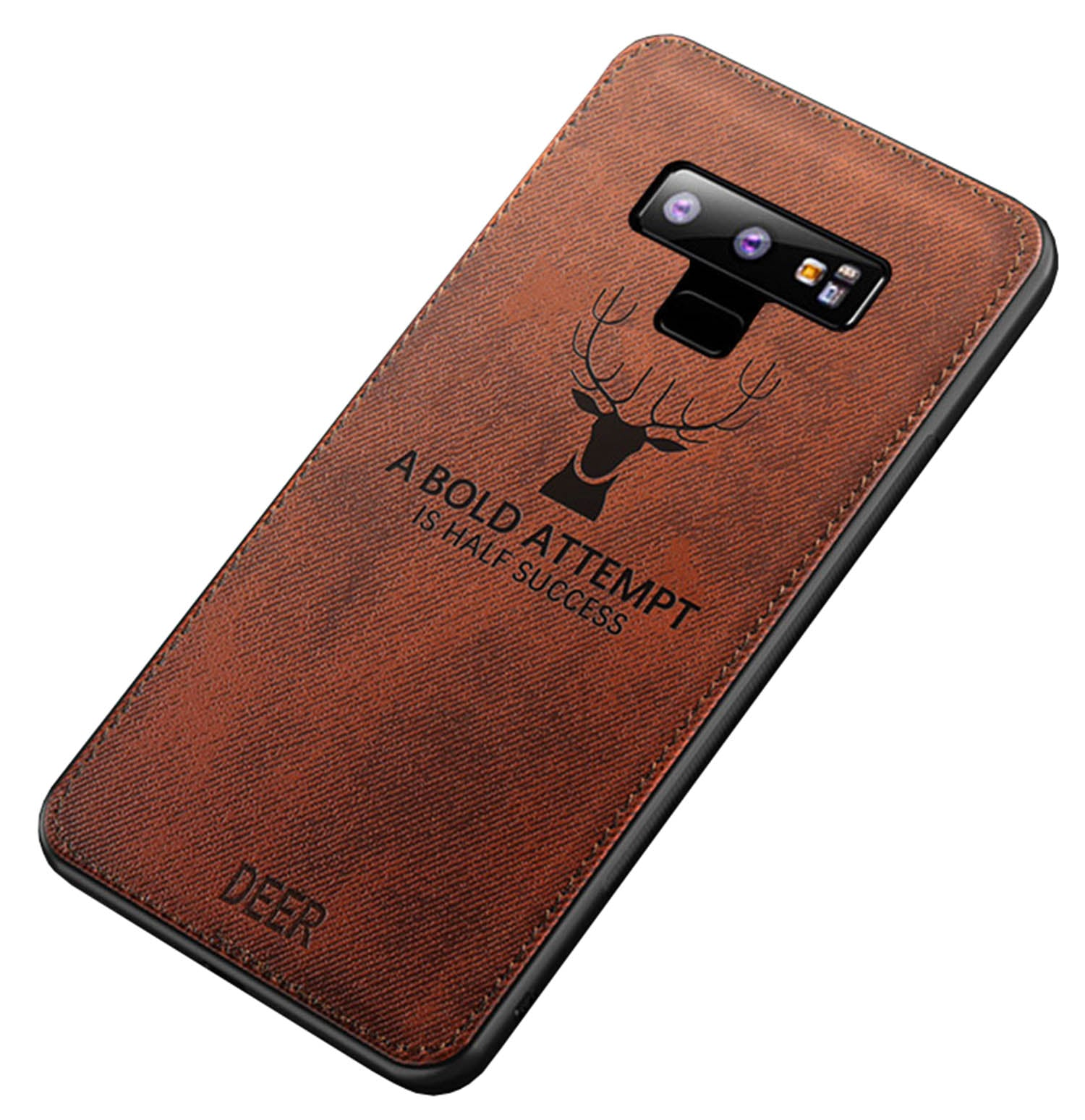Deer Case Fabric Shock Proof Hybrid Back Cover For Samsung Galaxy Note 9 - Mobizang