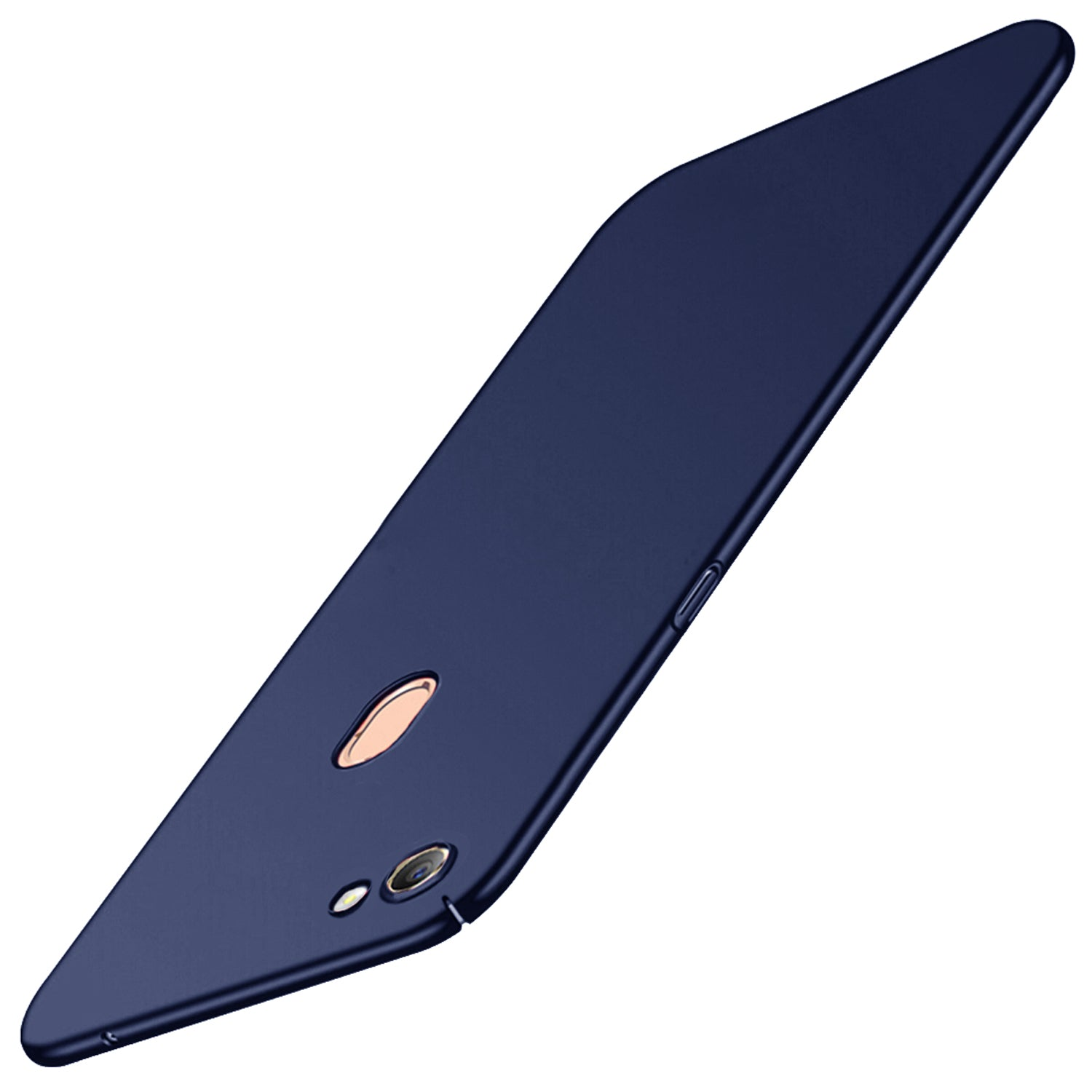 Silk Smooth Finish [Full Coverage] All Sides Protection Slim Back Case Cover For Oppo F5 - Blue - Mobizang